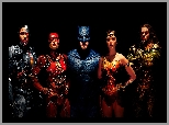 Gal Gadot - Wonder Woman, Ray Fisher - Cyborg, Liga Sprawiedliwości - Justice League, Jason Momoa - Aquaman, Ezra Miller - Flash, Obsada, Ben Affleck - Batman