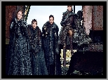 Sophie Turner - Sansa Stark, Gra o Tron, Maisie Williams - Arya Stark, Kit Harington - Jon Snow, Game of Thrones, Isaac Hempstead-Wright - Bran Stark