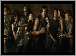Carl, Abraham, Daryl - Norman Reedus, Maggie, Serial, The Walking Dead, Glenn, Rick, Żywe trupy, Michonne