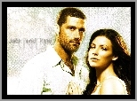 Evangeline Lilly, Matthew Fox, Lost, Serial, Zagubieni