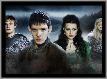 Merlin - Colin Morgan, Przygody Merlina, Morgose - Emilia Fox, Arthur - Bradley James, The Adventures of Merlin, Morgana - Katie McGrath