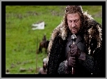 Eddard Stark - Sean Bean, Skupienie, Game of Thrones, Gra o tron, Miecz