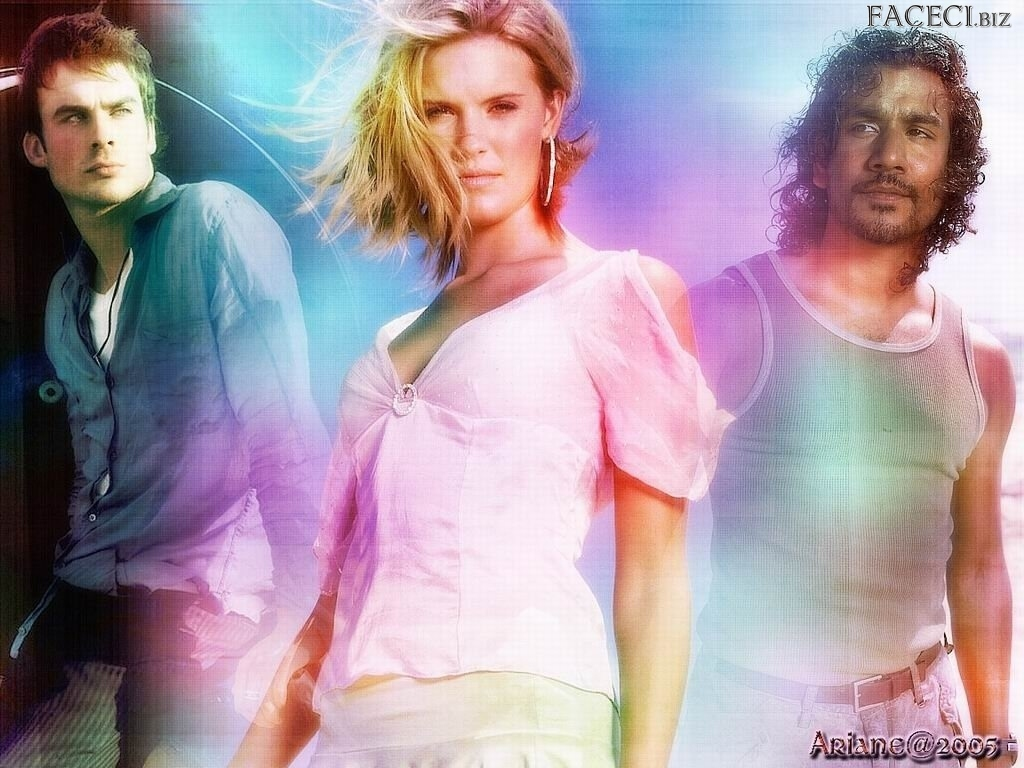 Zagubieni, Serial, Ian Somerhalder, Maggie Grace, Lost, Naveen Andrews