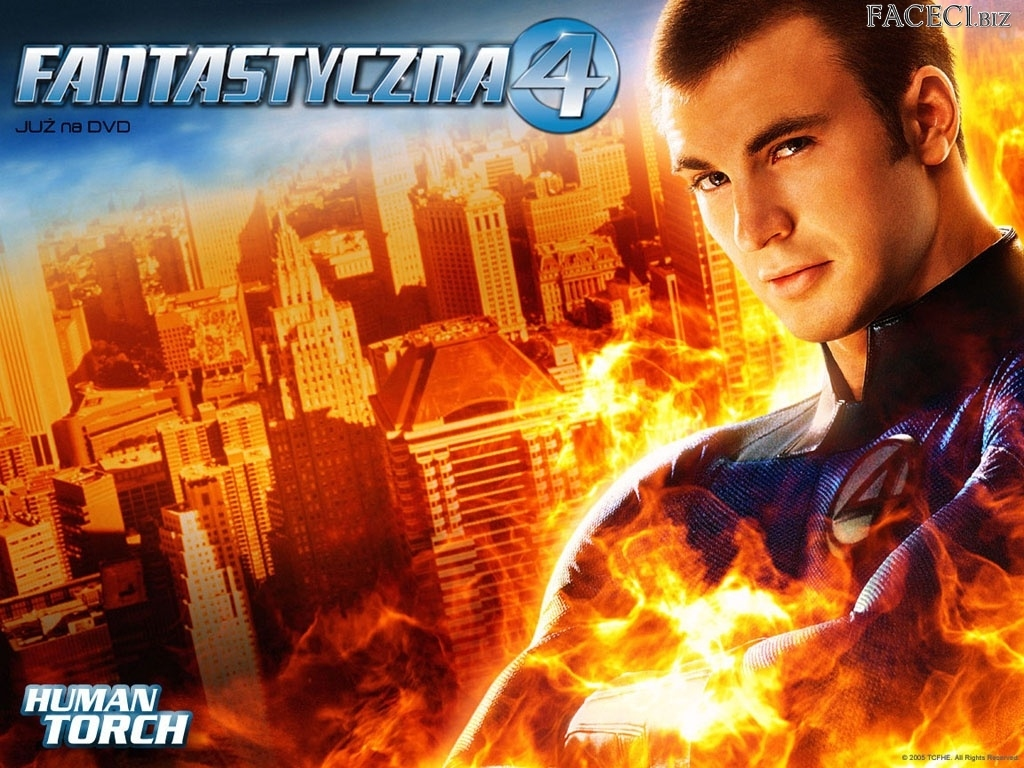 ogień, Fantastic Four 1, Chris Evans