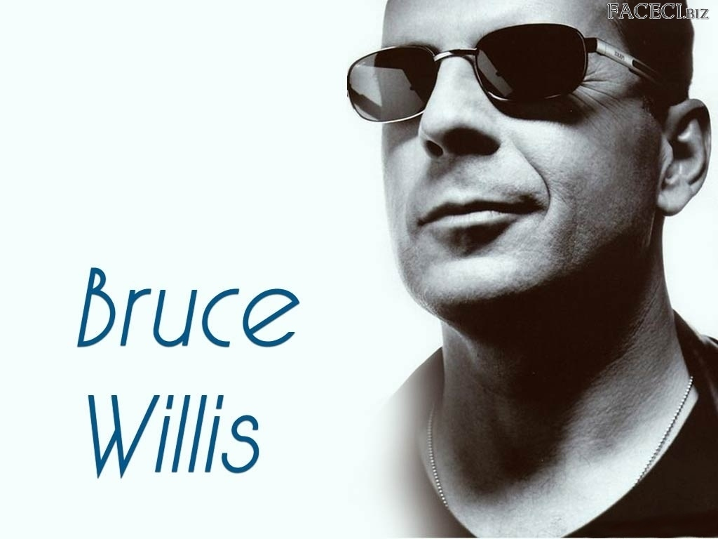 okulary, Bruce Willis, usta